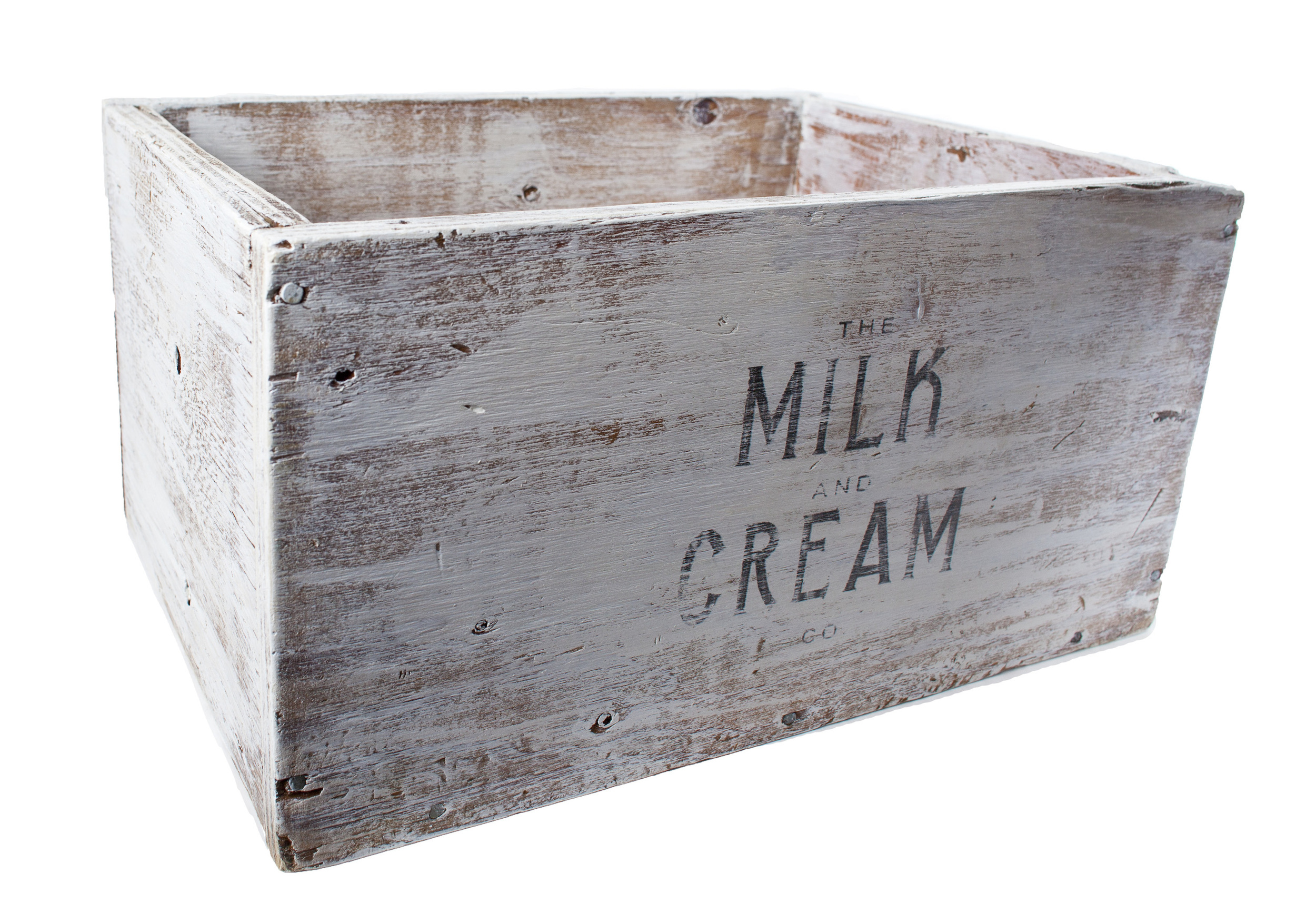 Painted 'Milk & Cream' Crate