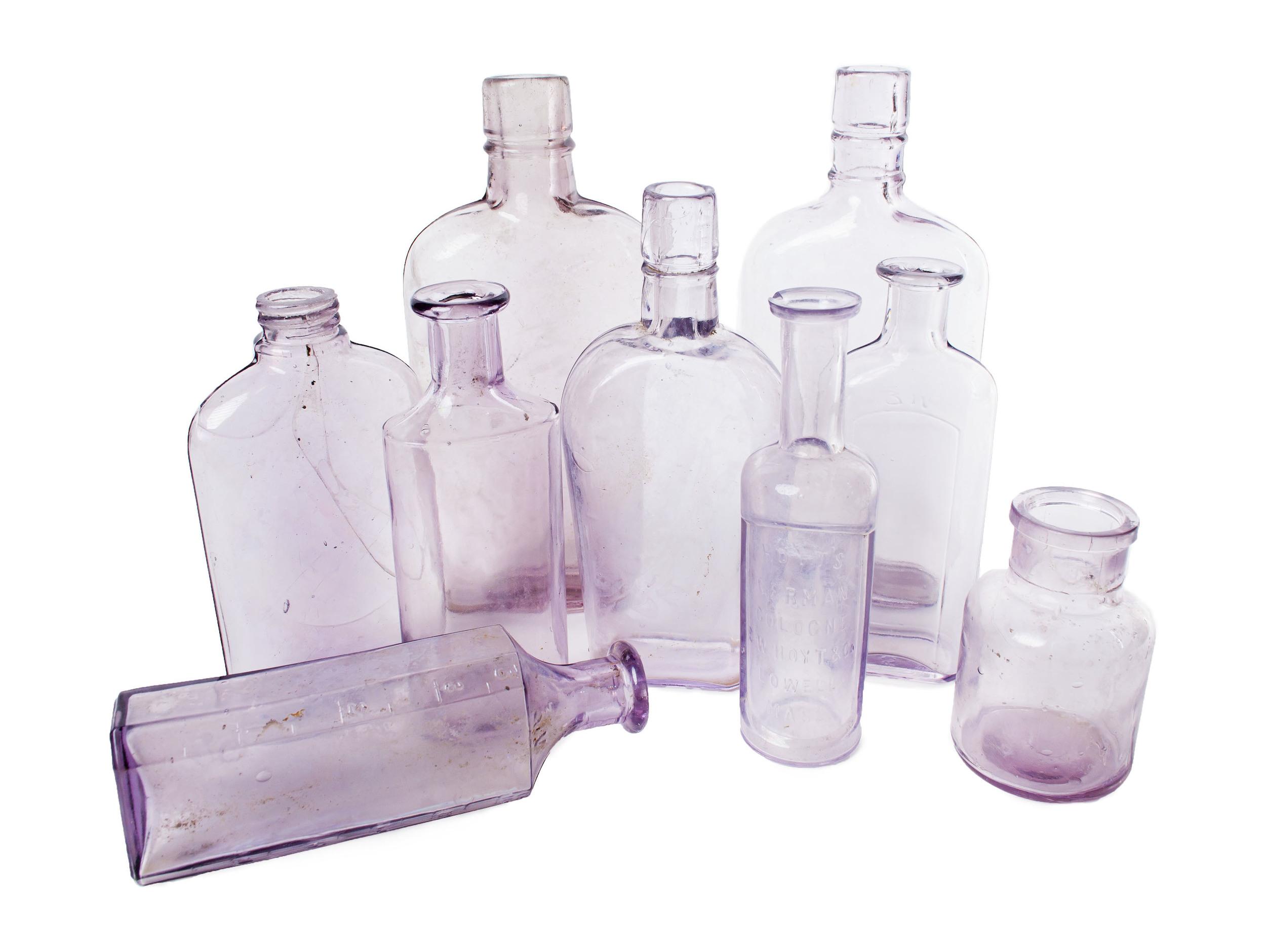 Antique - purple medicinal bottles