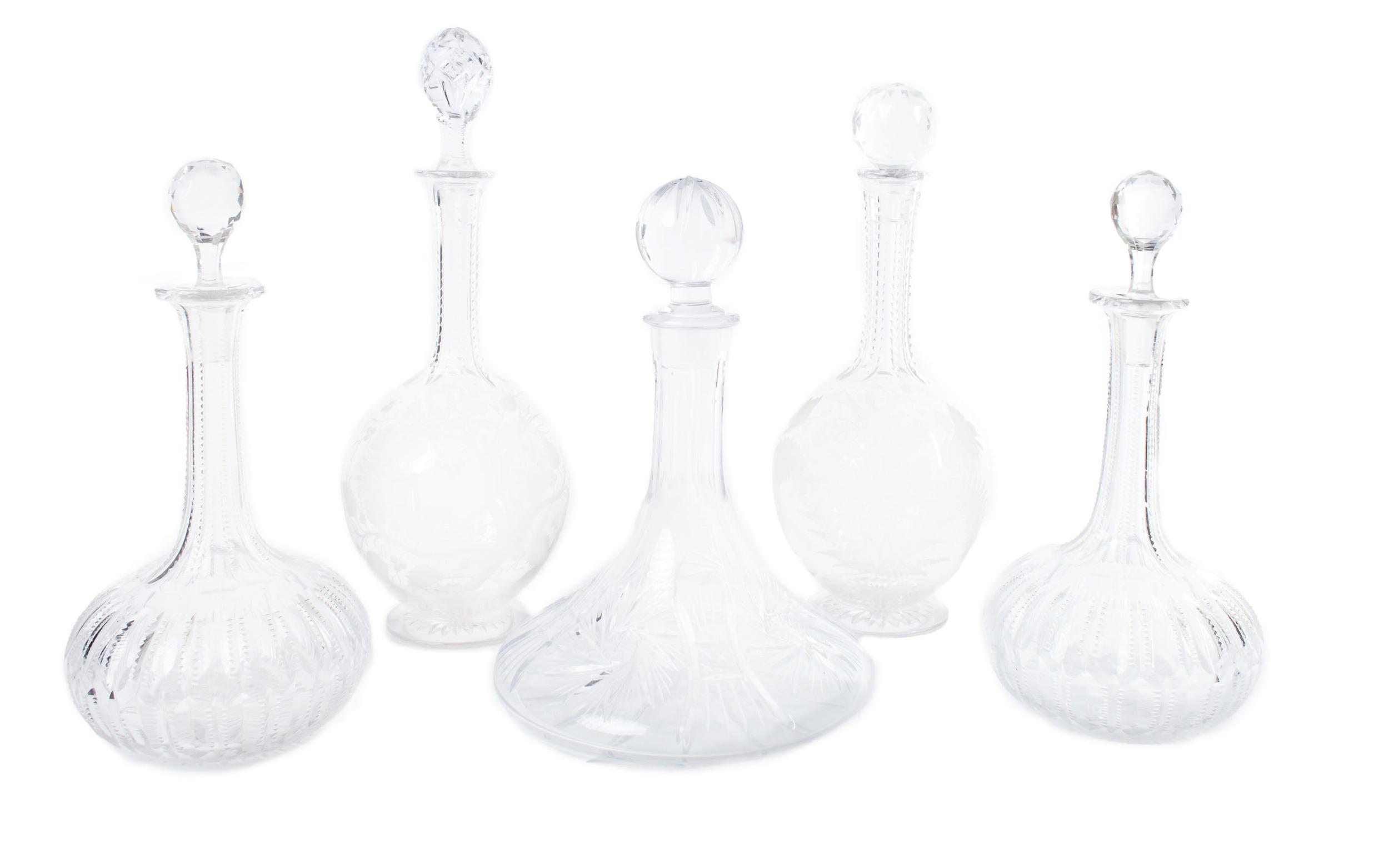 Crystal liquor decanters