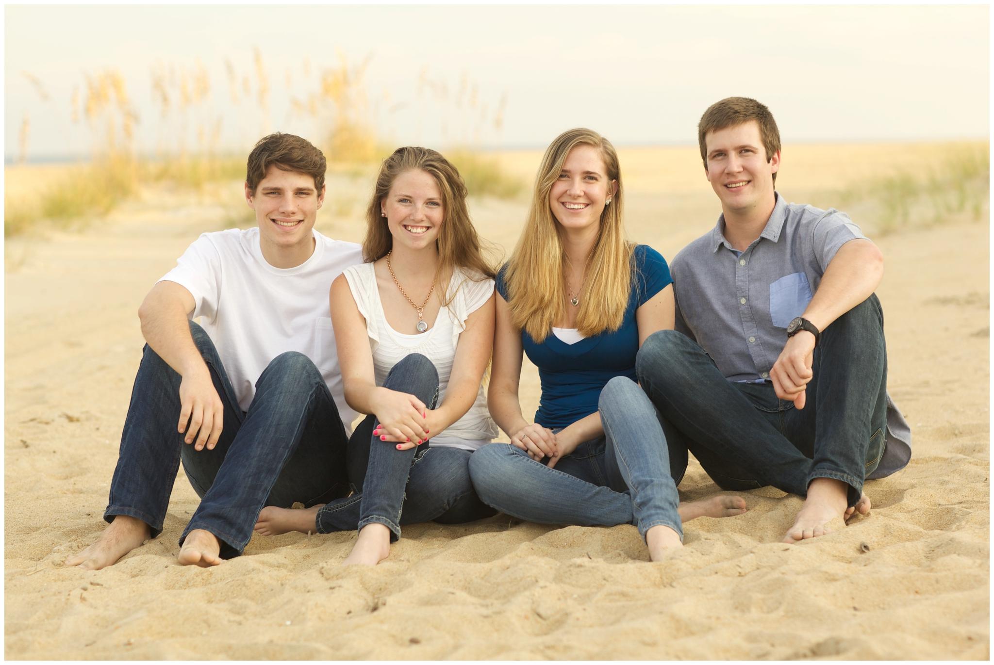 Virginia Beach Large Group Family Photography at the Beach