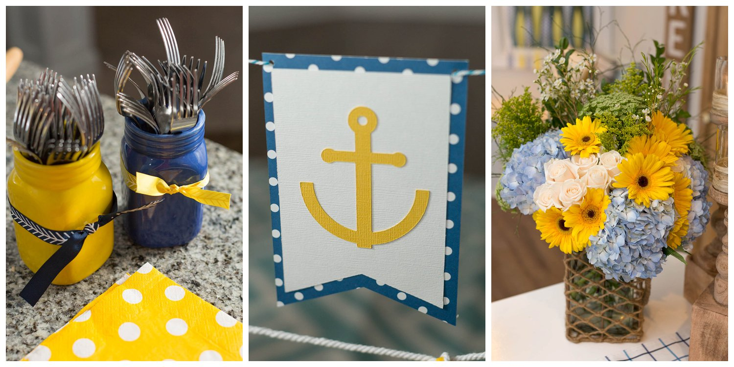nautical baby boy yellow and blue baby shower
