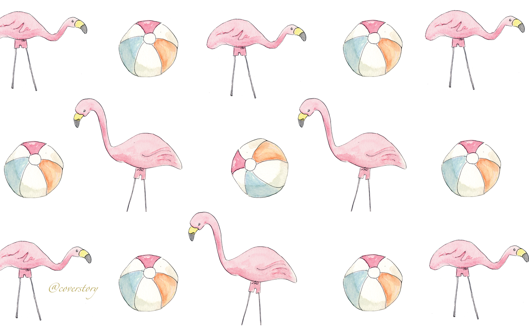 The flamingos are wearing shorts!