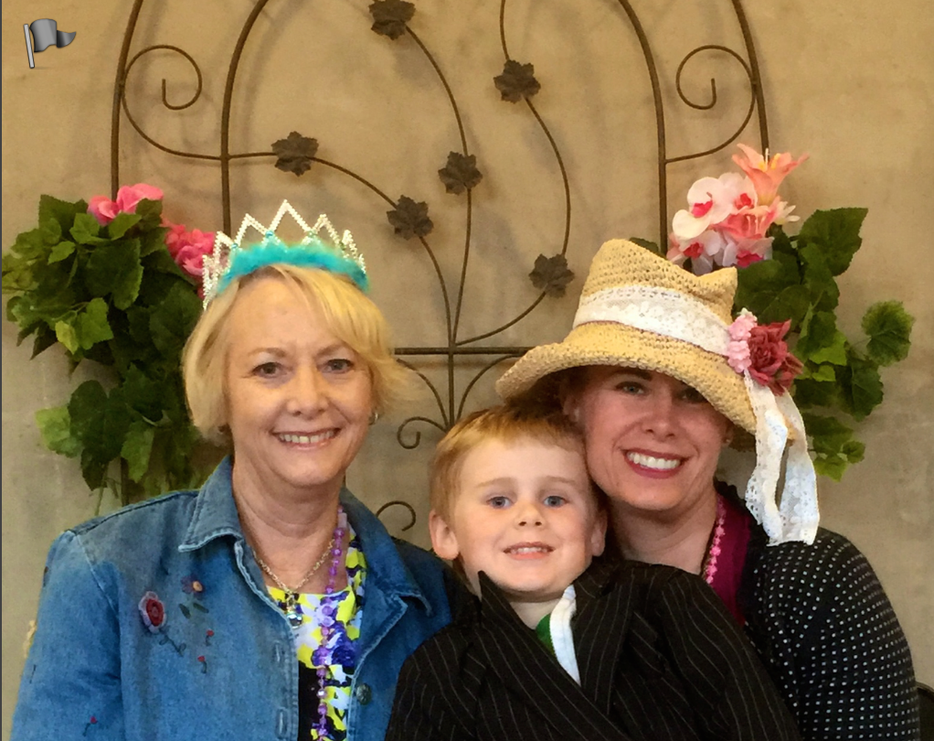 My mother, my youngest Logan and myself.