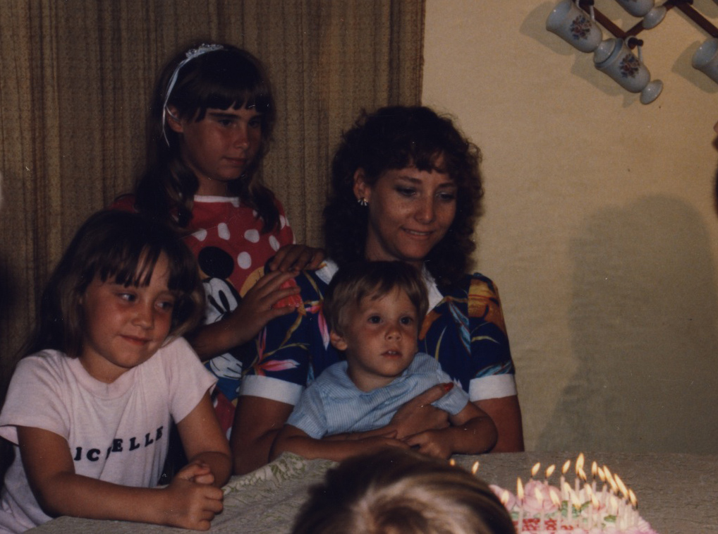 My Mom, my sister Danielle and my brother, I'm the one in the white shirt!