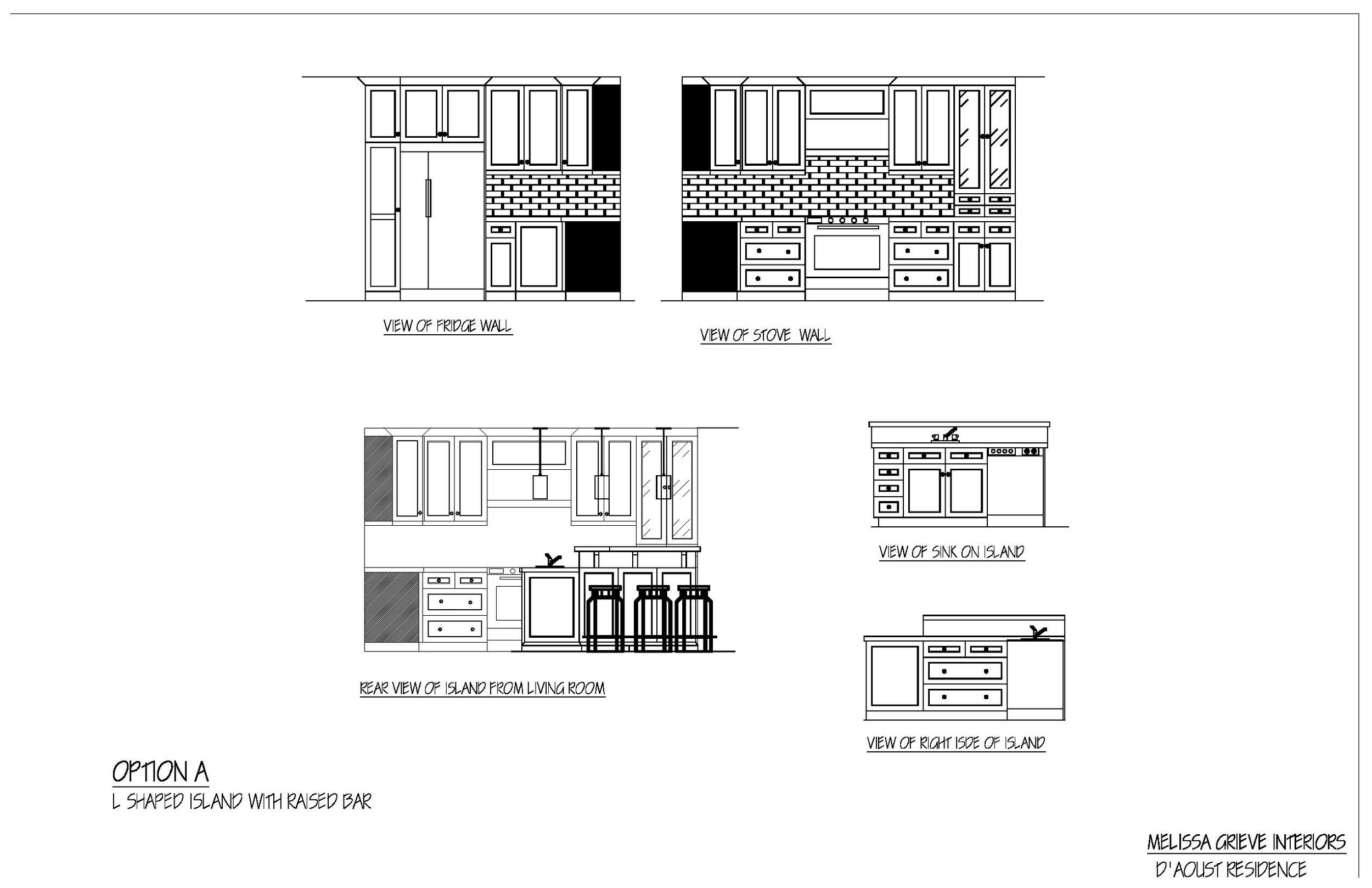 kitchen design elevations option a