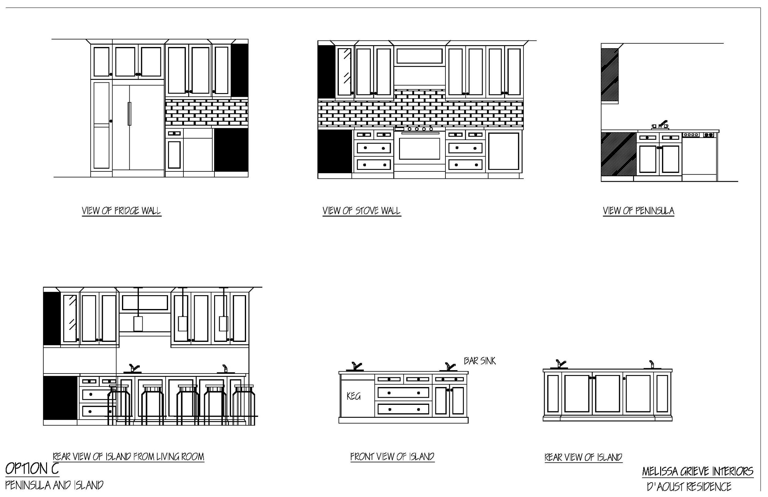 kitchen design elevations option c