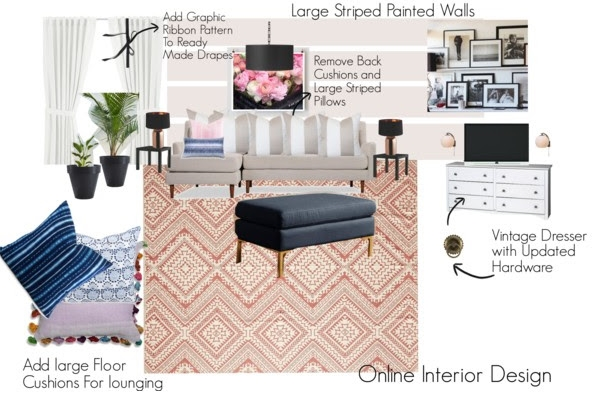 Family Room Mood Board Option 3