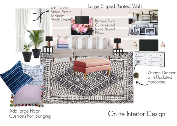 Family Room Mood Board Option 2