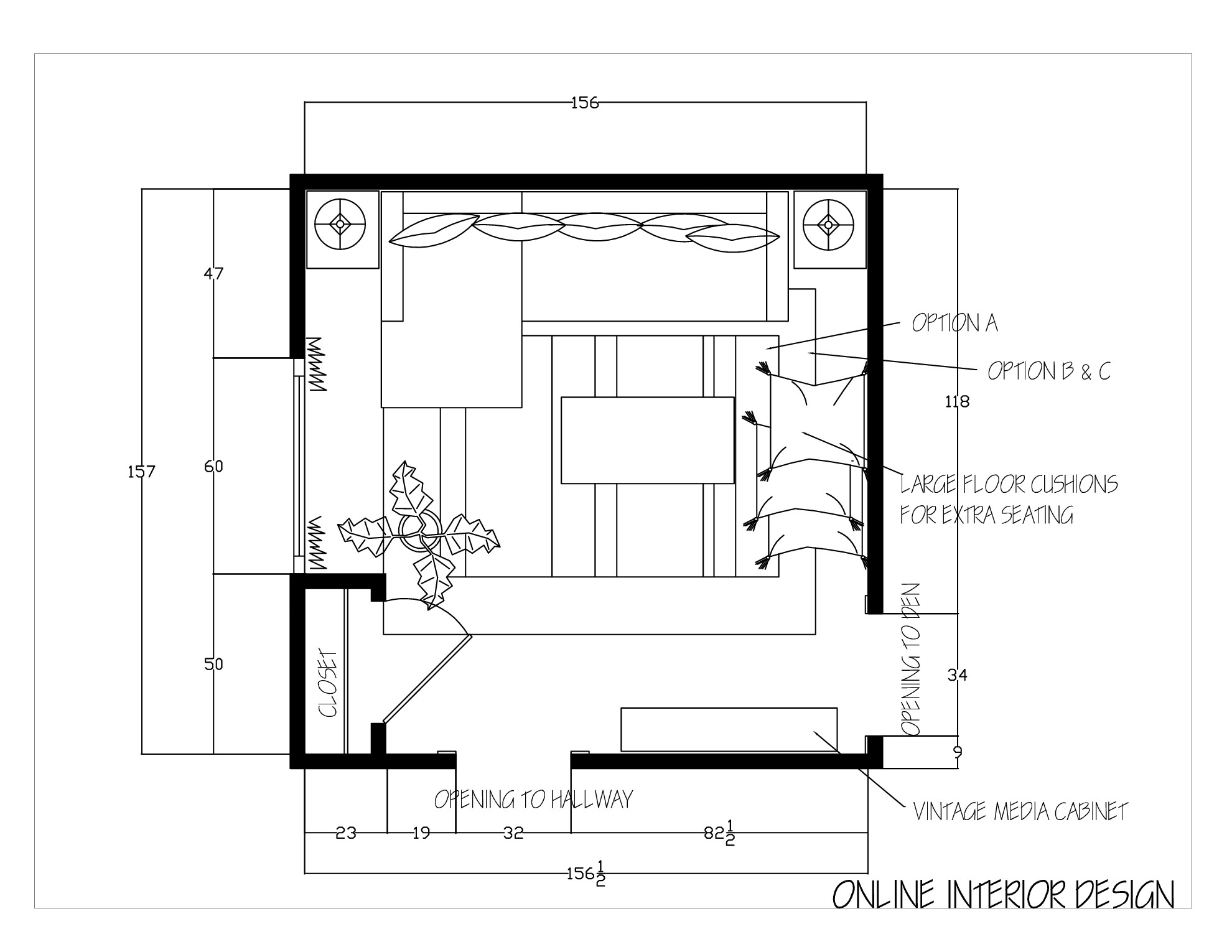 Family Room Design Floor Plan