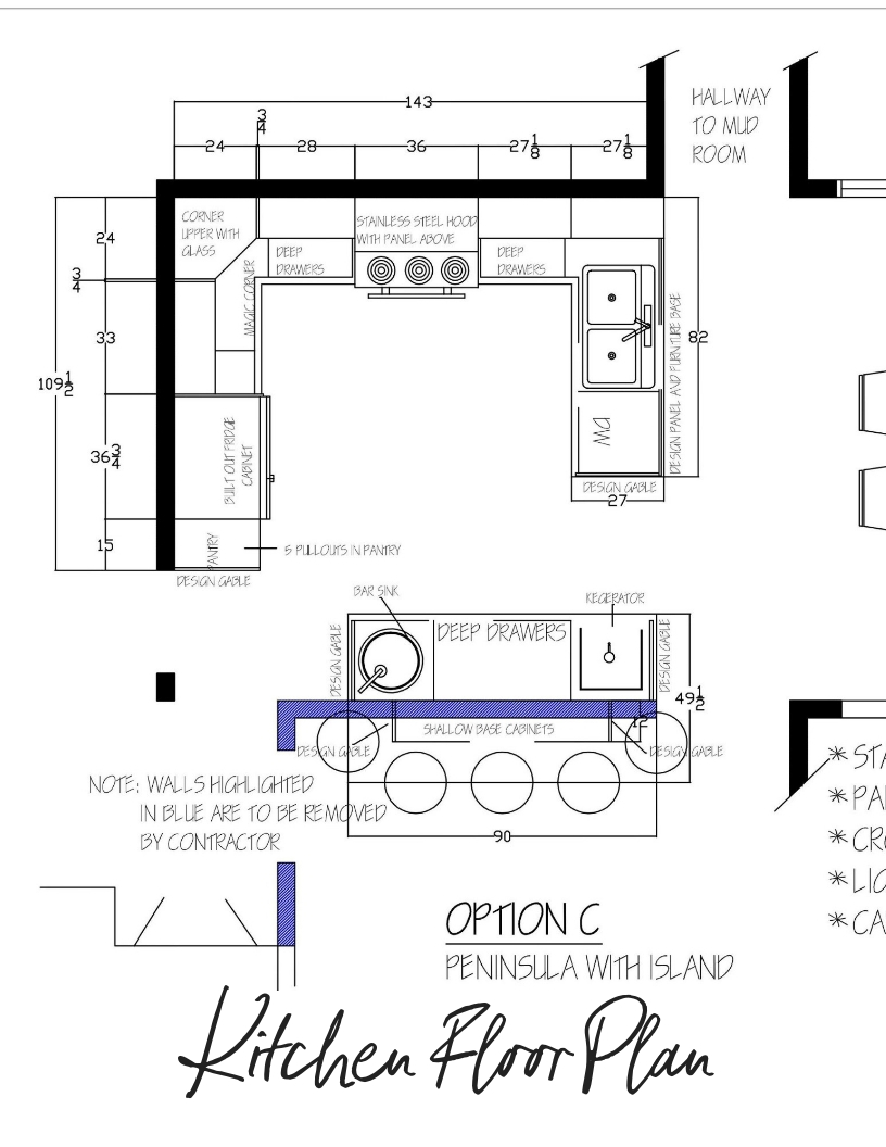 Kitchen Design Floor Plan Portfolio