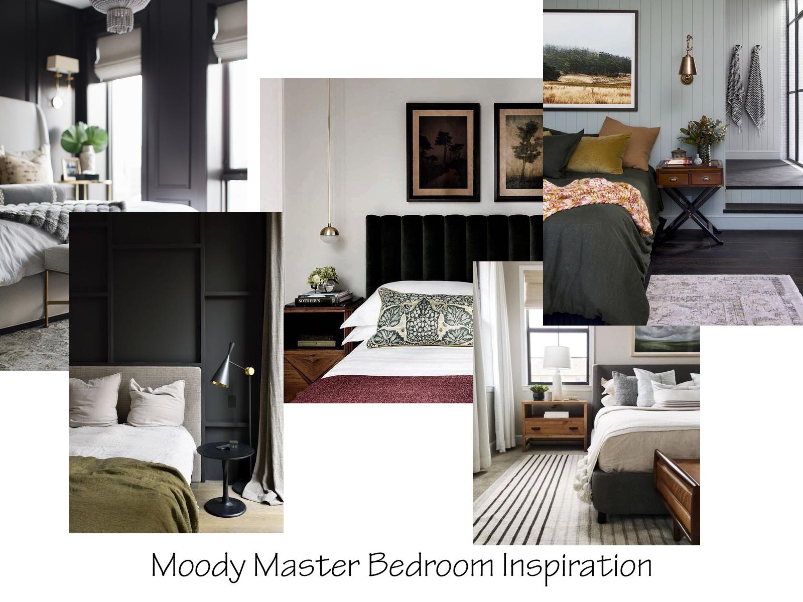 Moody Master Bedroom Inspiration