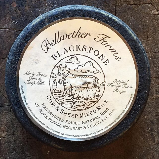 Bellwether Farm Blackstone.  Cow and sheep milks.. . . . . . #bellweatherfarms #cheese #sheepcheese #californiacheese #rubiners #food52grams  #food52