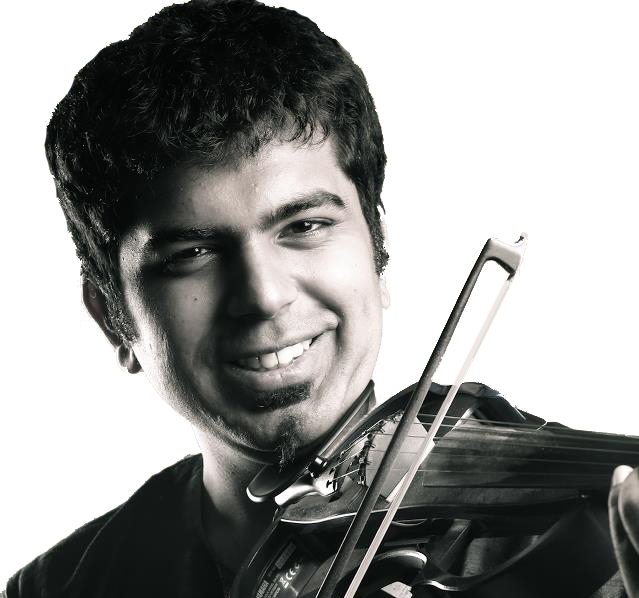 Karthick Iyer with his violin
