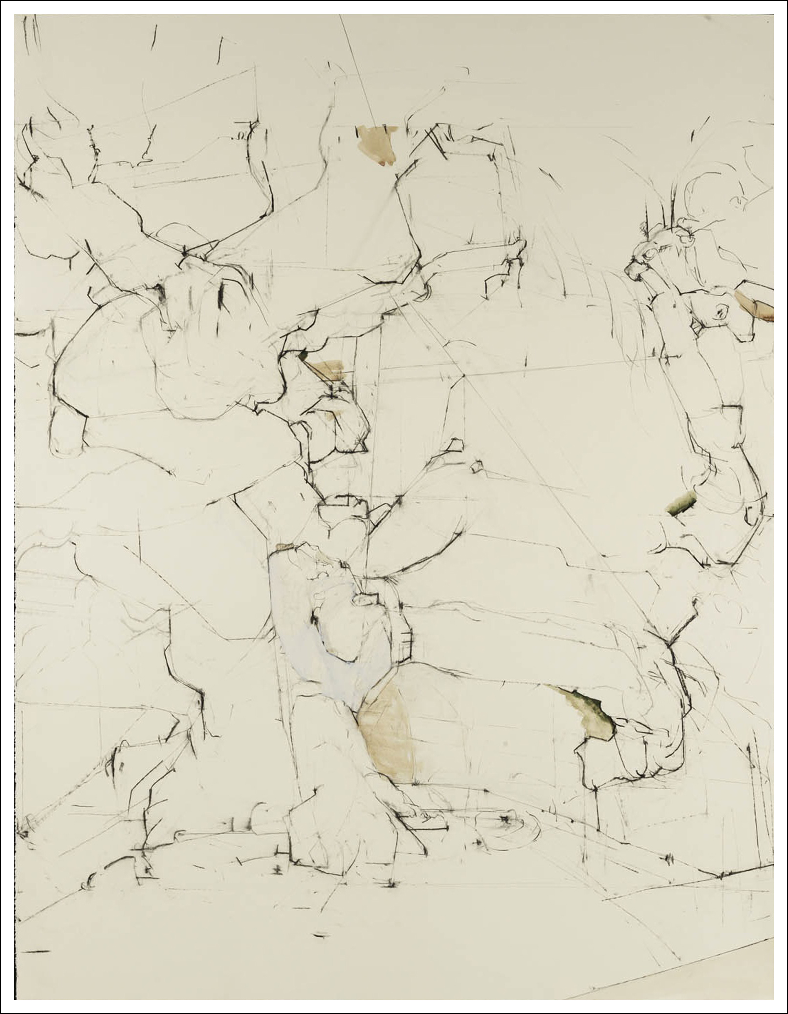"""Ulmus Glabra Camperdownii, 2008, Charcoal/Pencil on Paper (50 inchesx 38.25"""" inches)"""