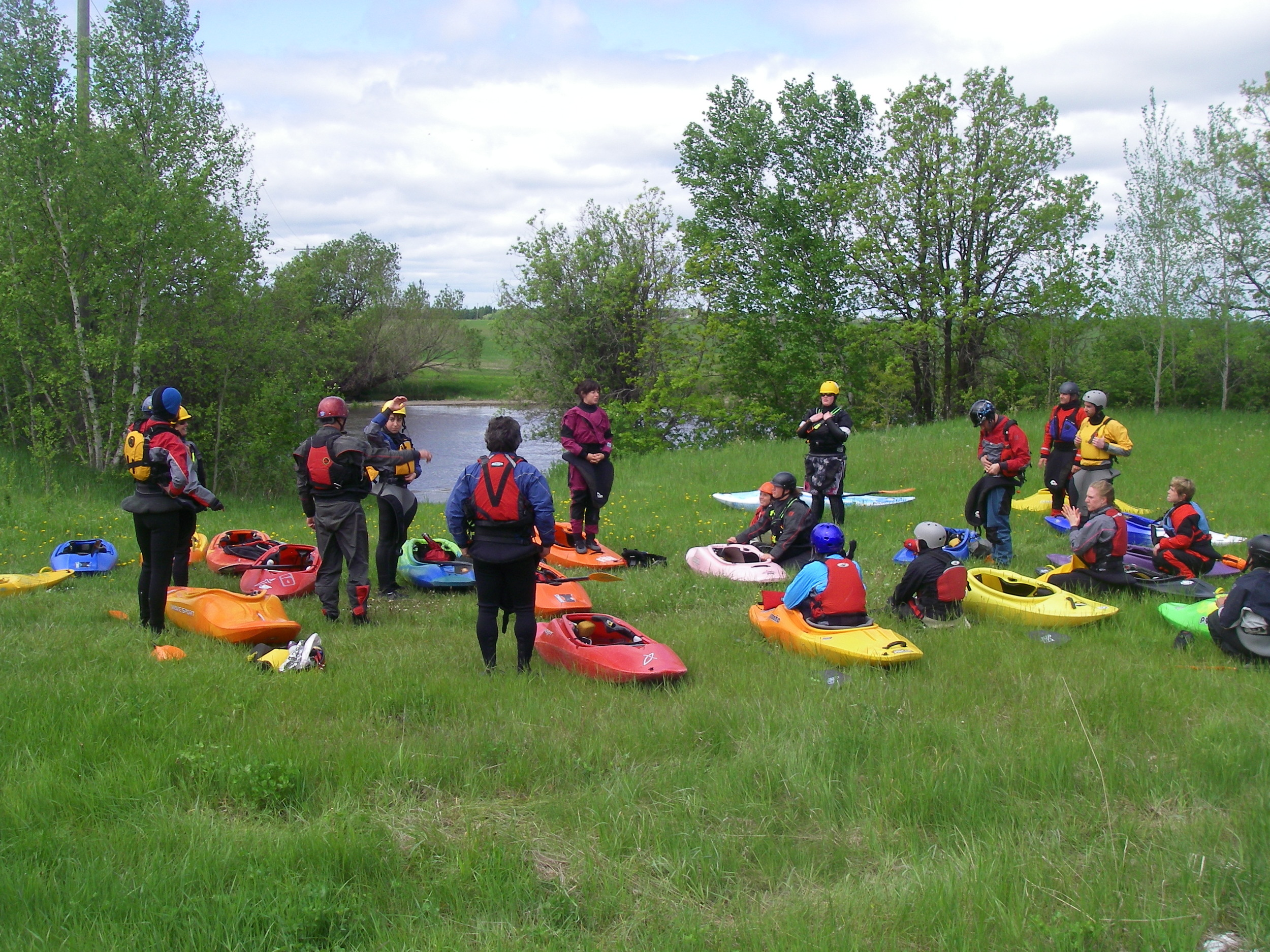 Getting ready for the river run above Farmers