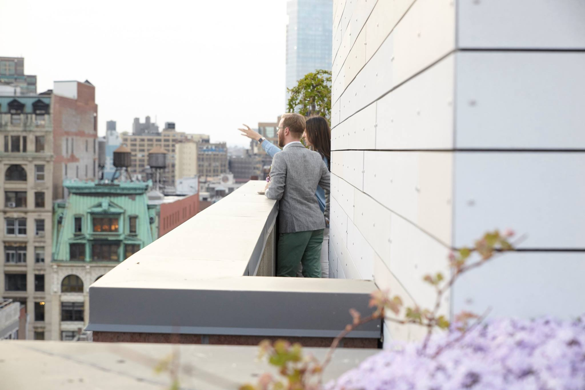 Our beautiful upstairs terraces (yes that's plural)!Enjoy spectacular views of downtown Manhattan.