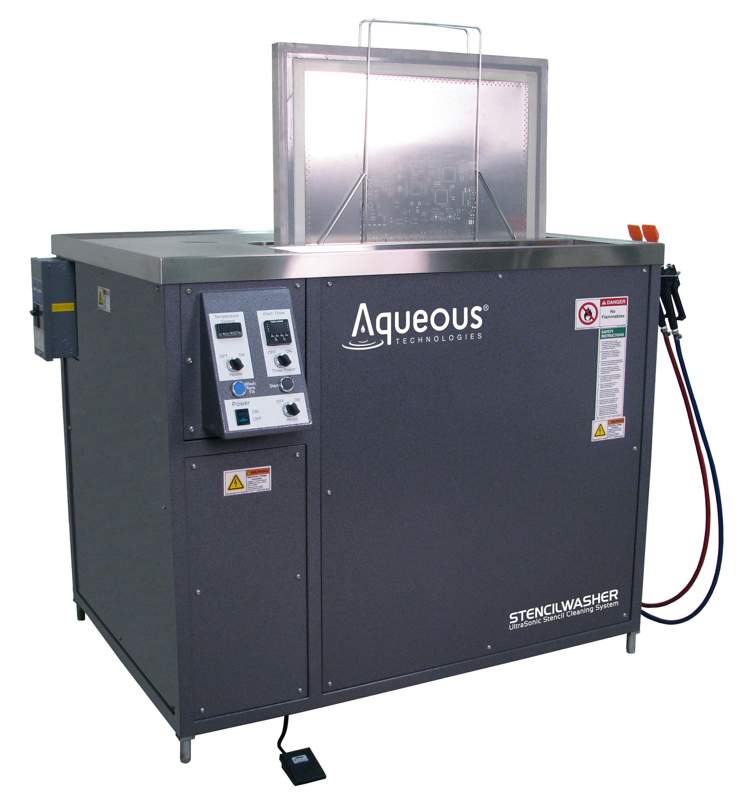 StencilWasherUltrasonic Stencil Cleaning Systems - Harnessing the Safe Power of Sound-Waves, StencilWasher Removes all Solder Paste and SMT Adhesive Types in Zero or Low Discharge Configurations