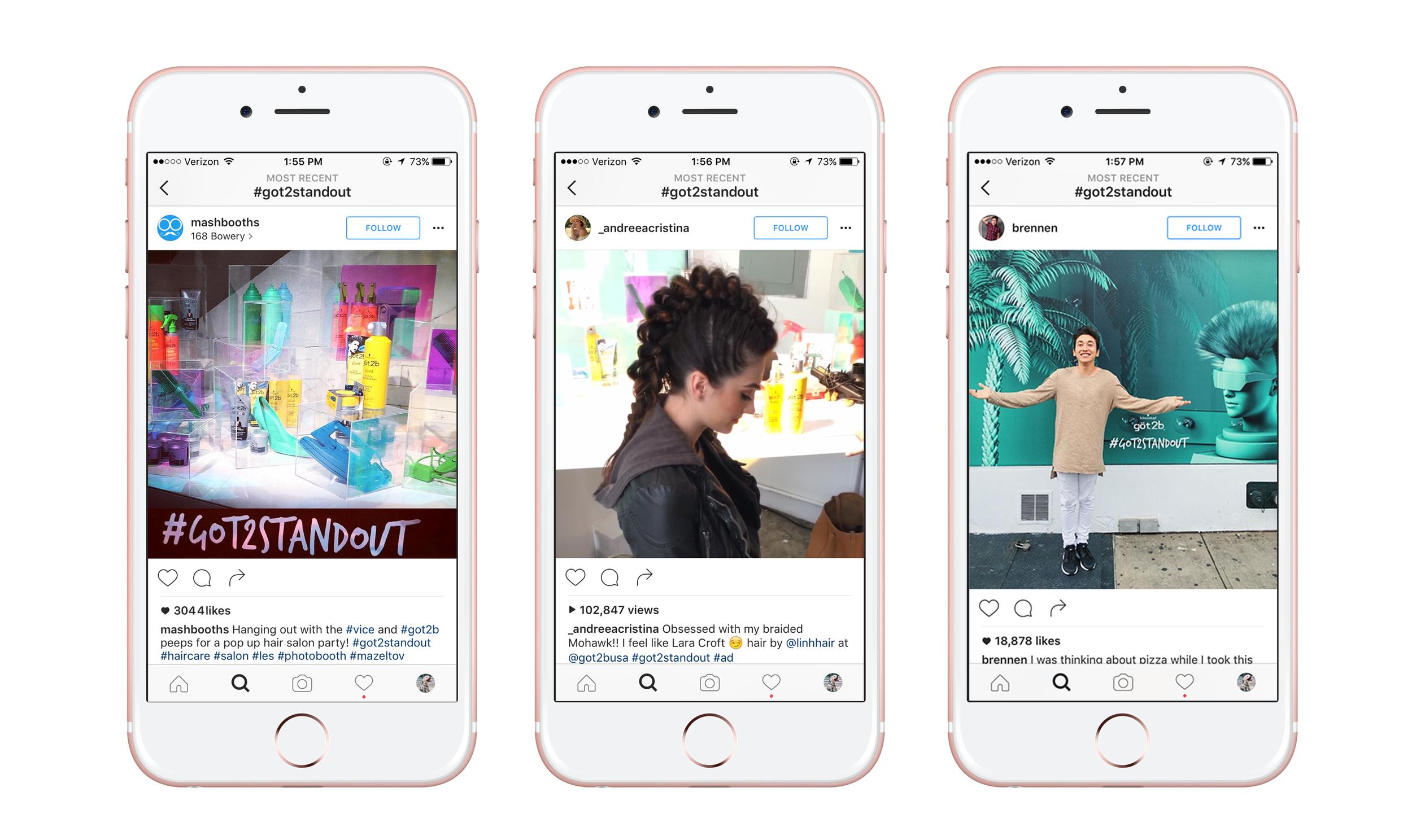 #got2standout Instagram posts