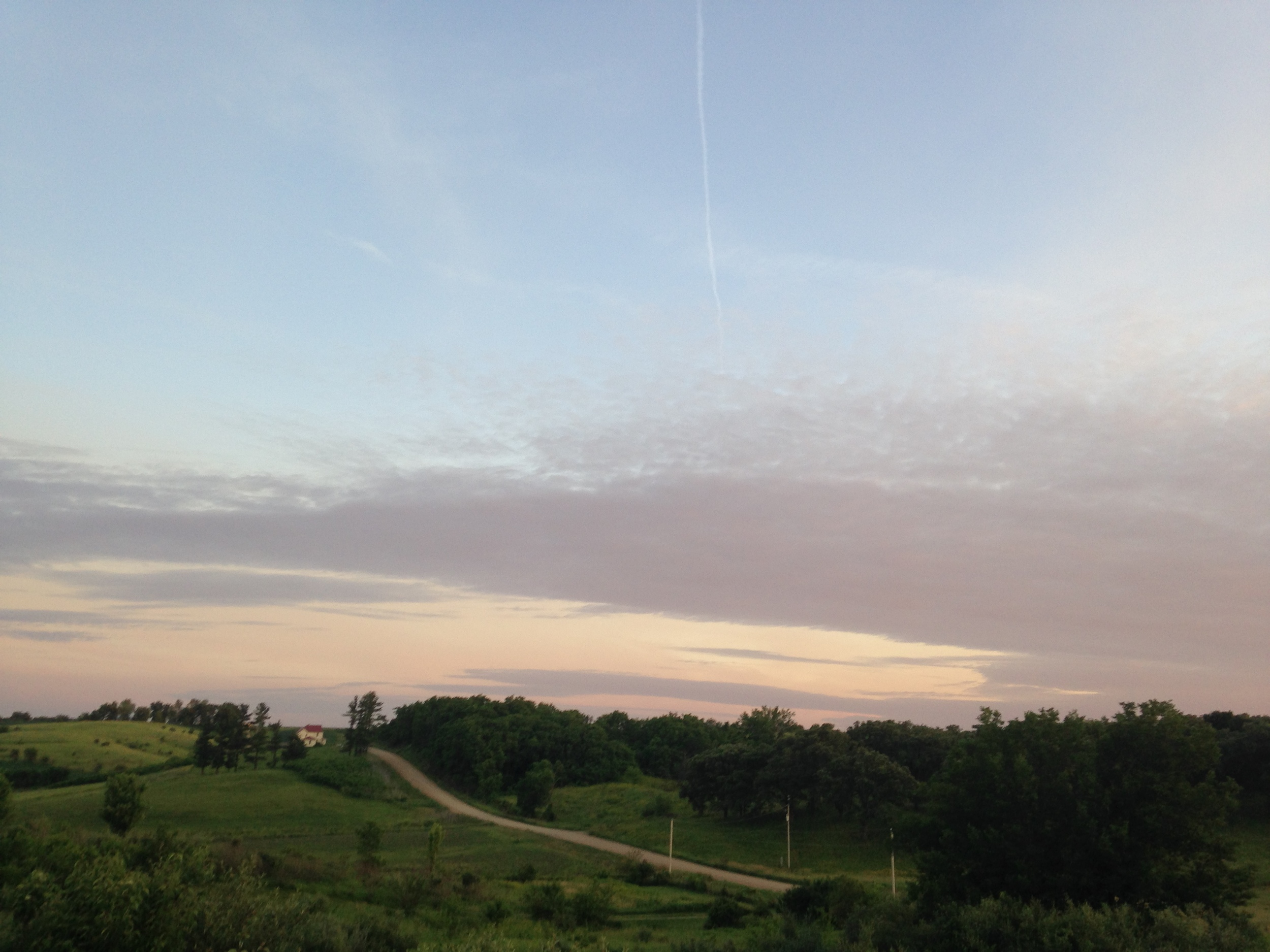 An example of the sky displaying different colors!