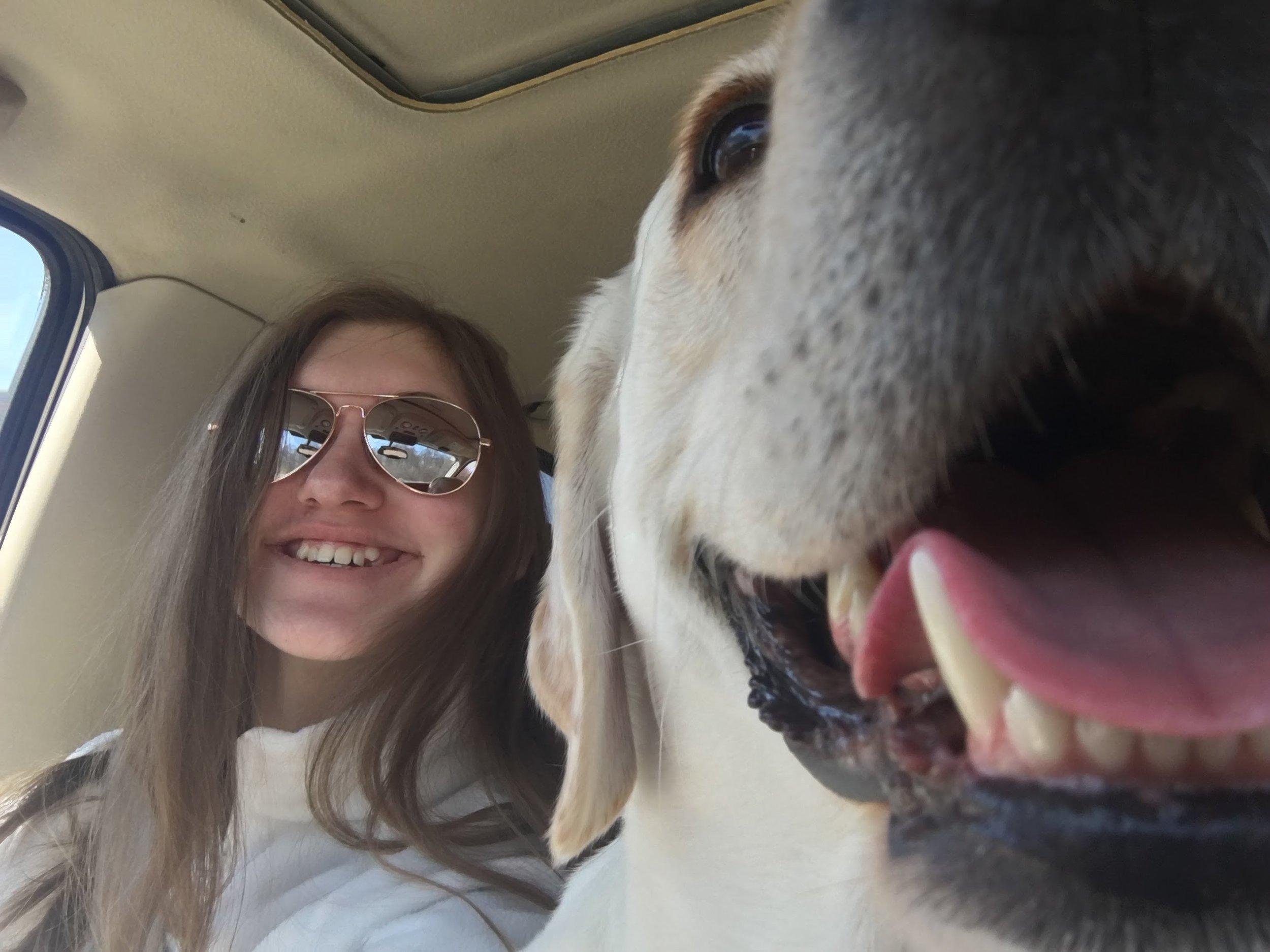 My dog and I enjoying the nice weather -