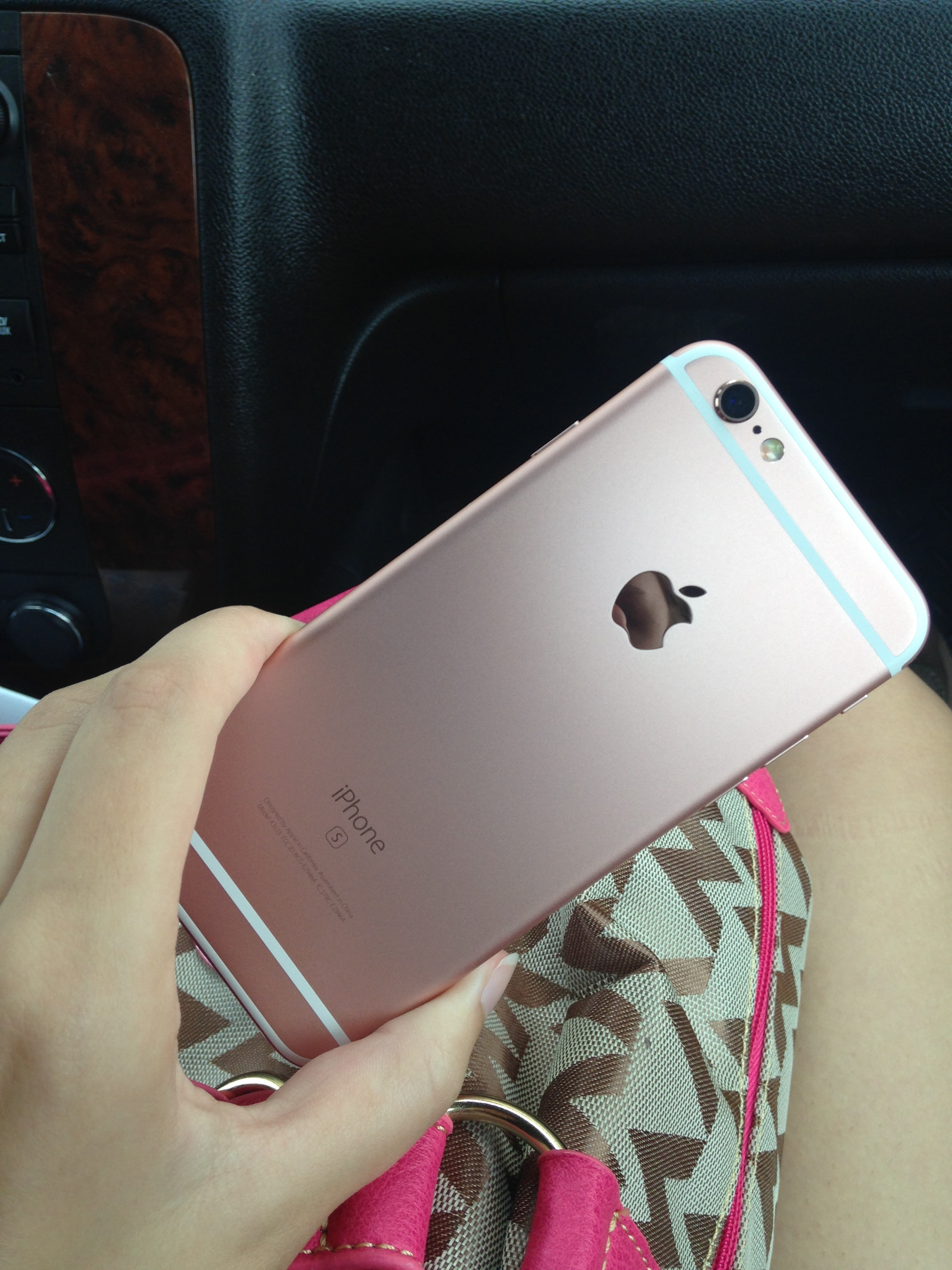 the phone I have now...an iPhone 6s in the gorg rose gold color -