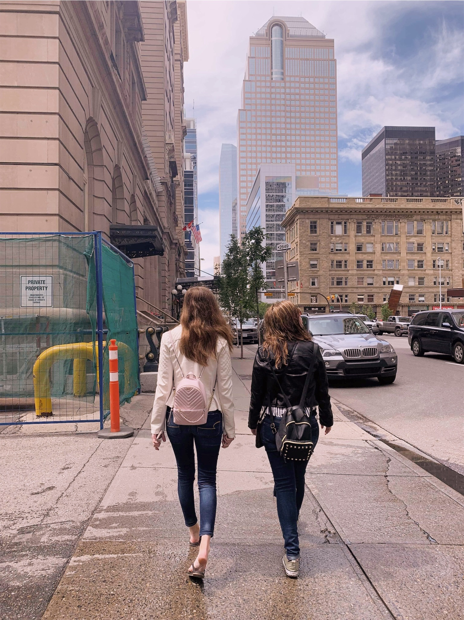 Ashlee and Kirsten walking downtown Calgary.jpg