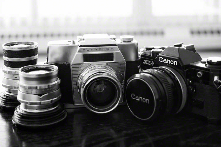 Along with the Agfaflex, my father-in-law also gave me his trusty Canon AE-1. Both cameras are in excellent, mechanically perfect condition and is used as often as I can find film (and more importantly, places where I can get them developed and printed).