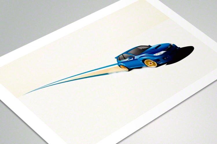 Blue Wonder - poster mockup