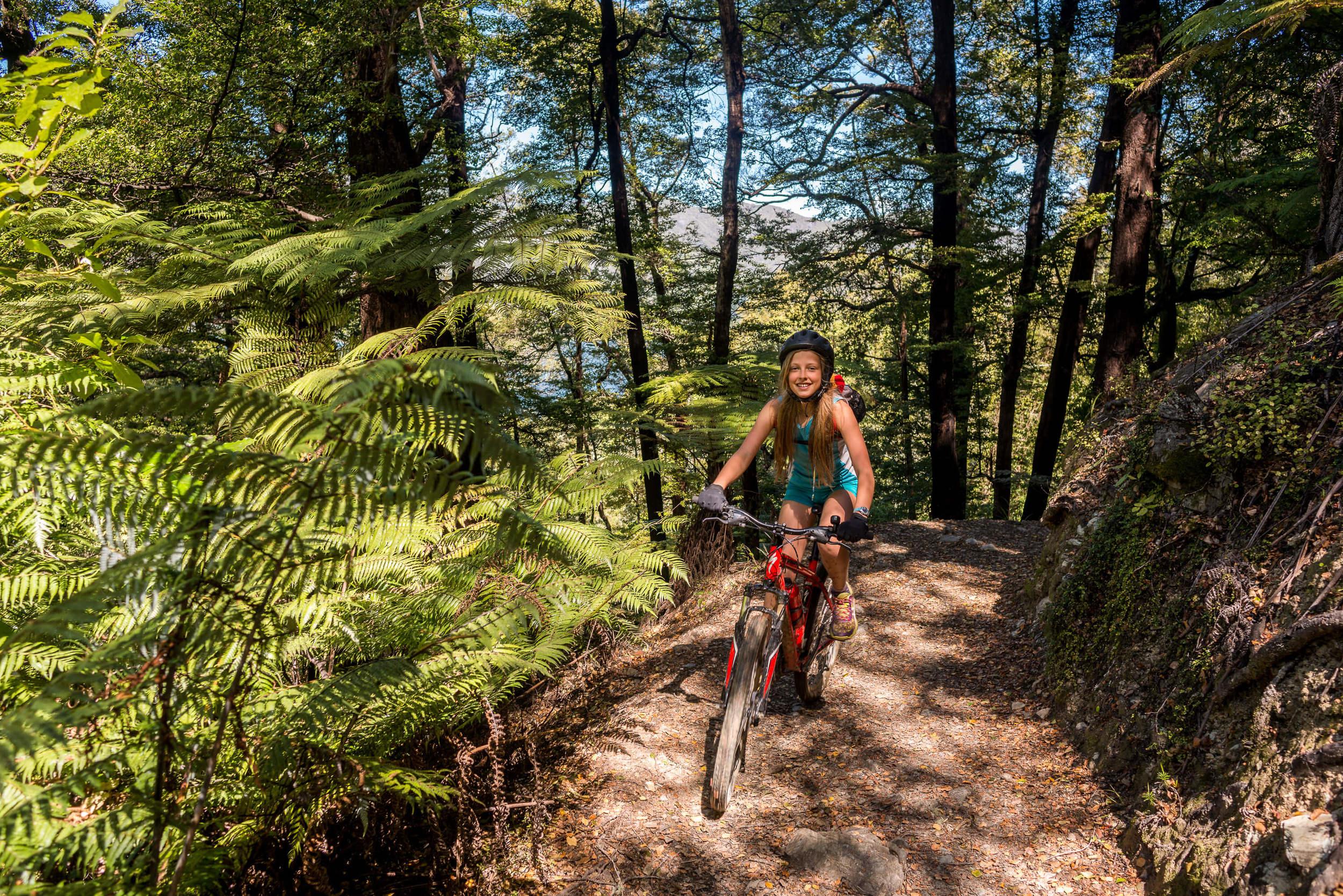 biking Queen Charlotte