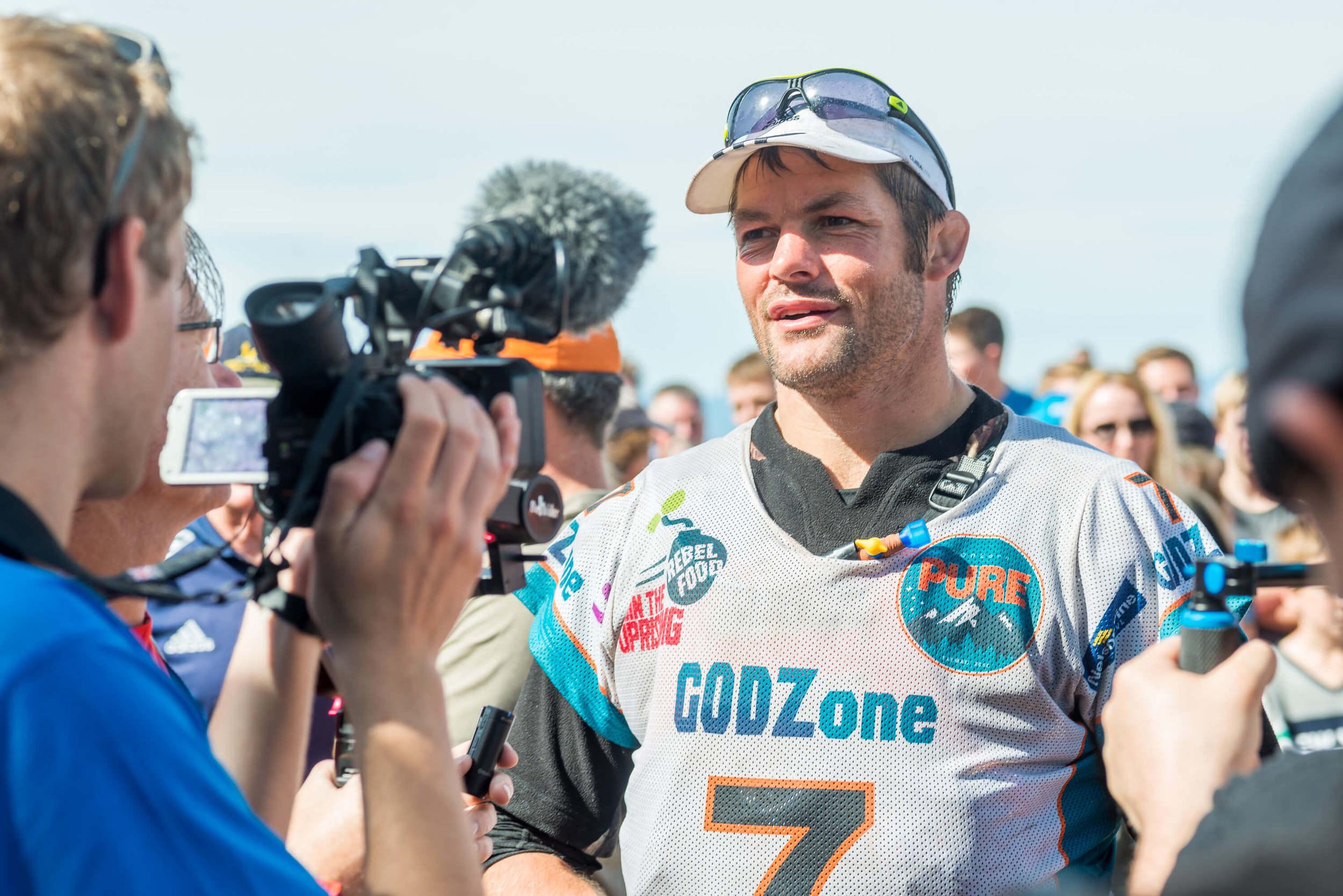Richie McCaw at Godzone