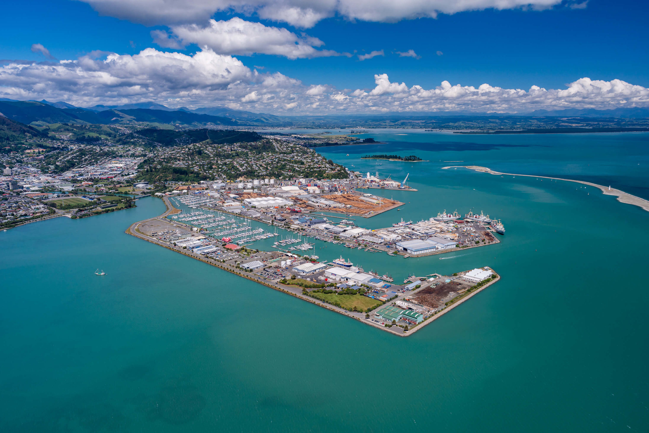 Aerial photo of Nelson