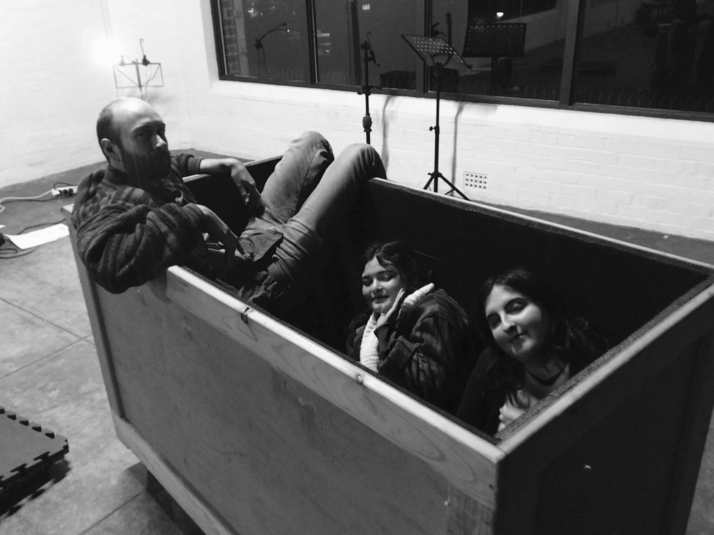 Joe, Jasmin and Jassy enjoying a soundbath.