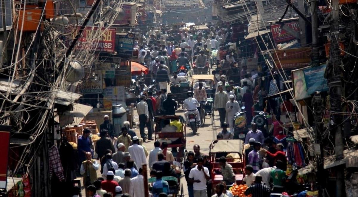 A busy street in Delhi, India. © 2012 Samita Mehta, Courtesy of Photoshare