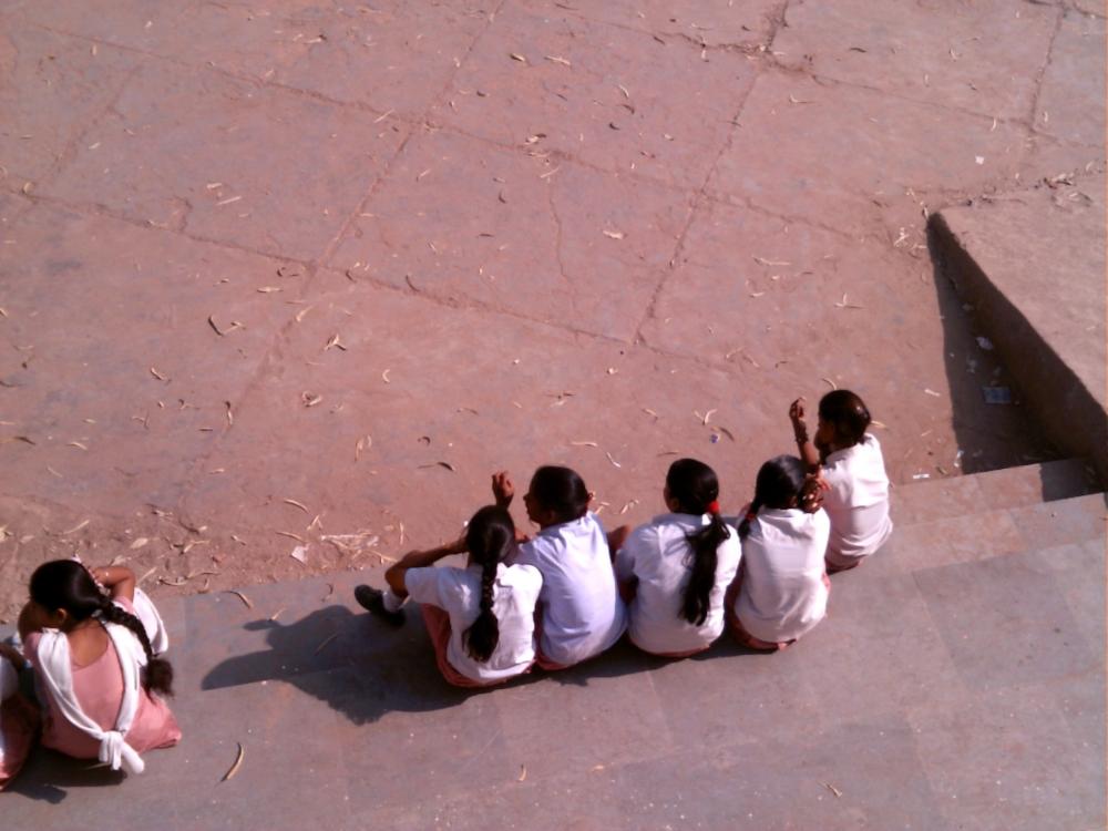 Girls in school uniform.JPG