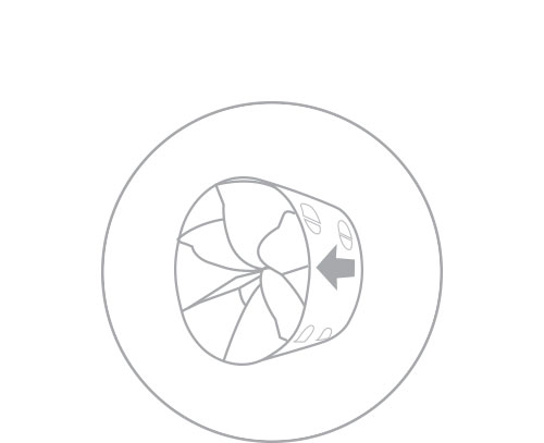 Step 2  Locate install arrow