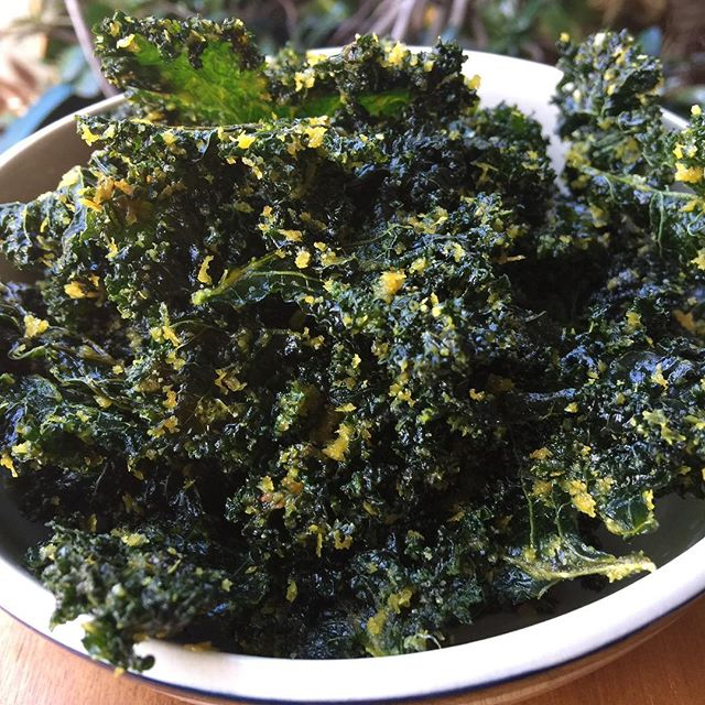 Ohhh I have missed these crunchy morsels of kale goodness! We had a super over-flowency of kale so I pulled out the dehydrator to make one of our 'oldey but goodey' recipes. Sooo moorish, good thing they are a healthy snack. #kale #chips #healthysnack #eatyourgreens #dehydrator #allergyfriendly #crunchy #kaleforlife #nooch #nutritionalyeast