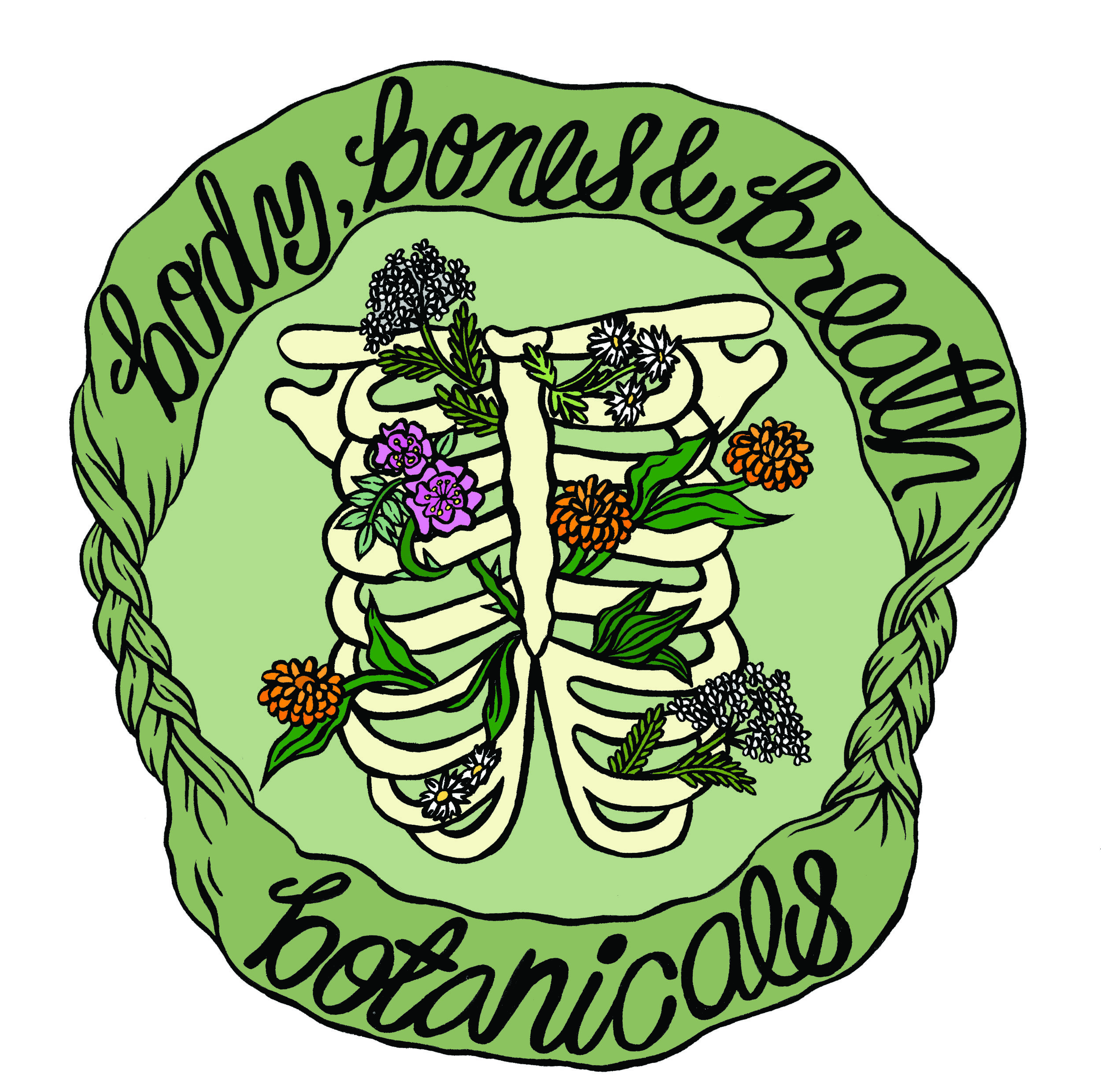 LOGO:  FOR BODY, BONES & BREATH BOTANICALS