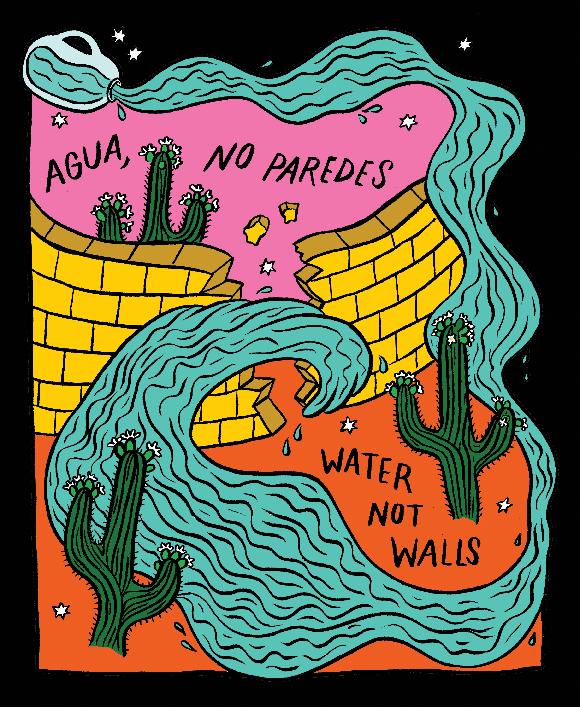 AGUA, NO PAREDES/WATER NOT WALLS:  FOR NO MORE DEATHS