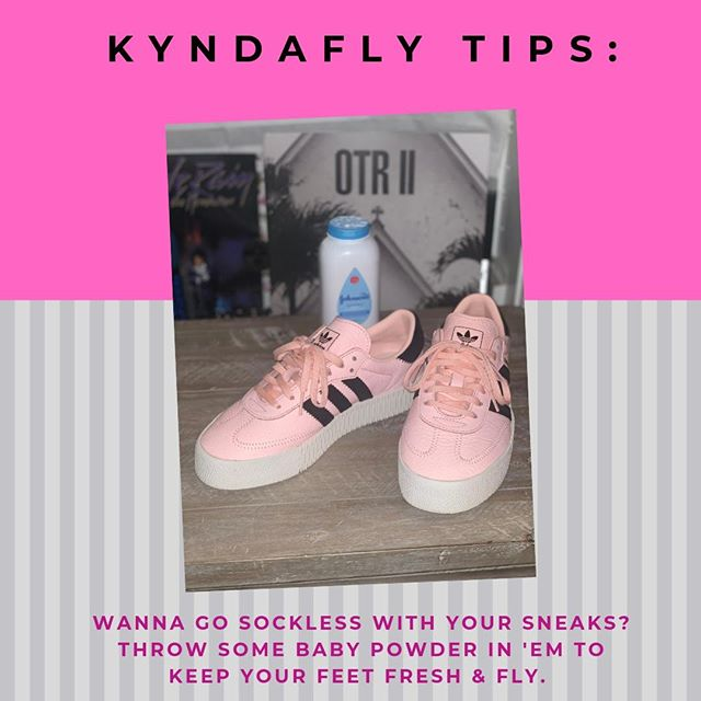 It's summertime and socks don't always go with that look. Fear not, here's a quick tip on how to rock your fave sneakers in the summer sans socks! #kyndafly #LifeFueledByFashion #KFTips #FreshFeetFreshSneaks