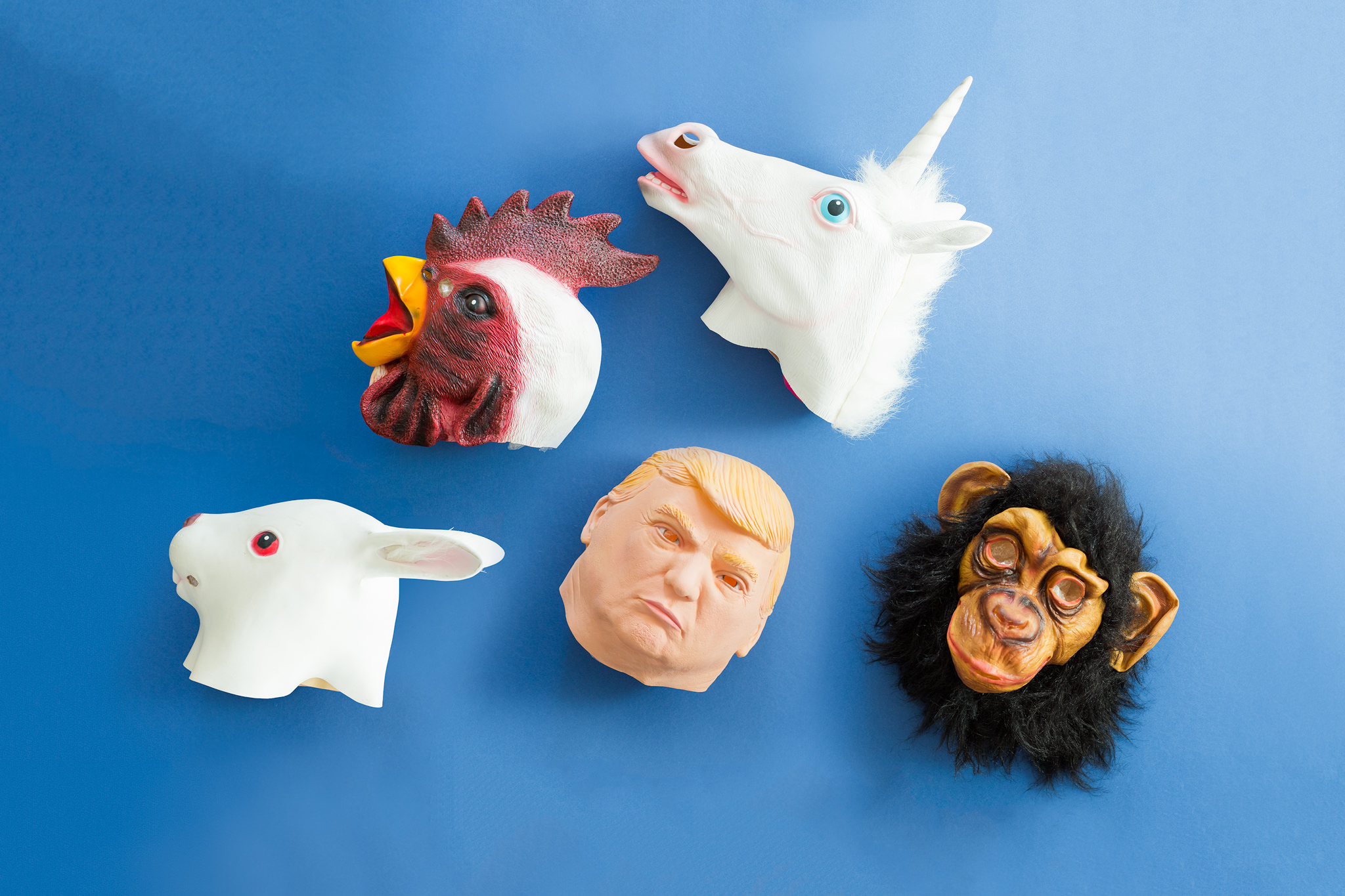 LATEX MASK PROP KIT - We all have that friend who will rock every single one of these latex masks, and will most probably end up on the dance floor with a unicorn head.*Subject to availability