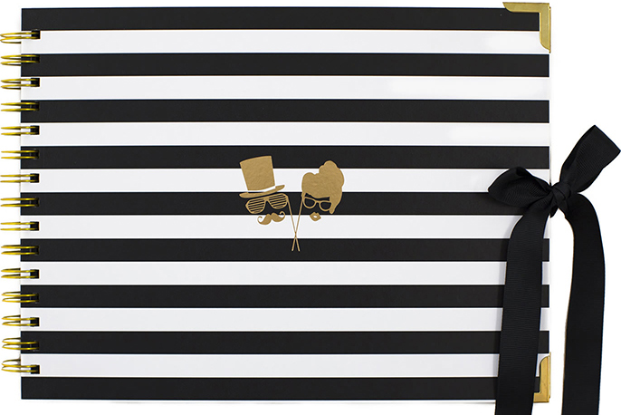 Party-Fever-props-faces-gold-black-white-striped-Modern-Photo-booth-guest-book-album-sydney-photobooth-hire-event.jpg