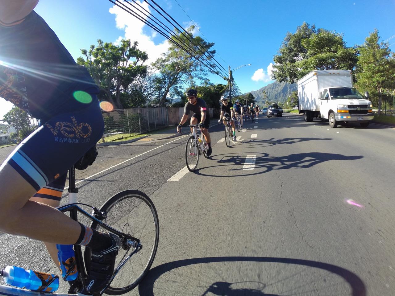 Making our way through Kailua