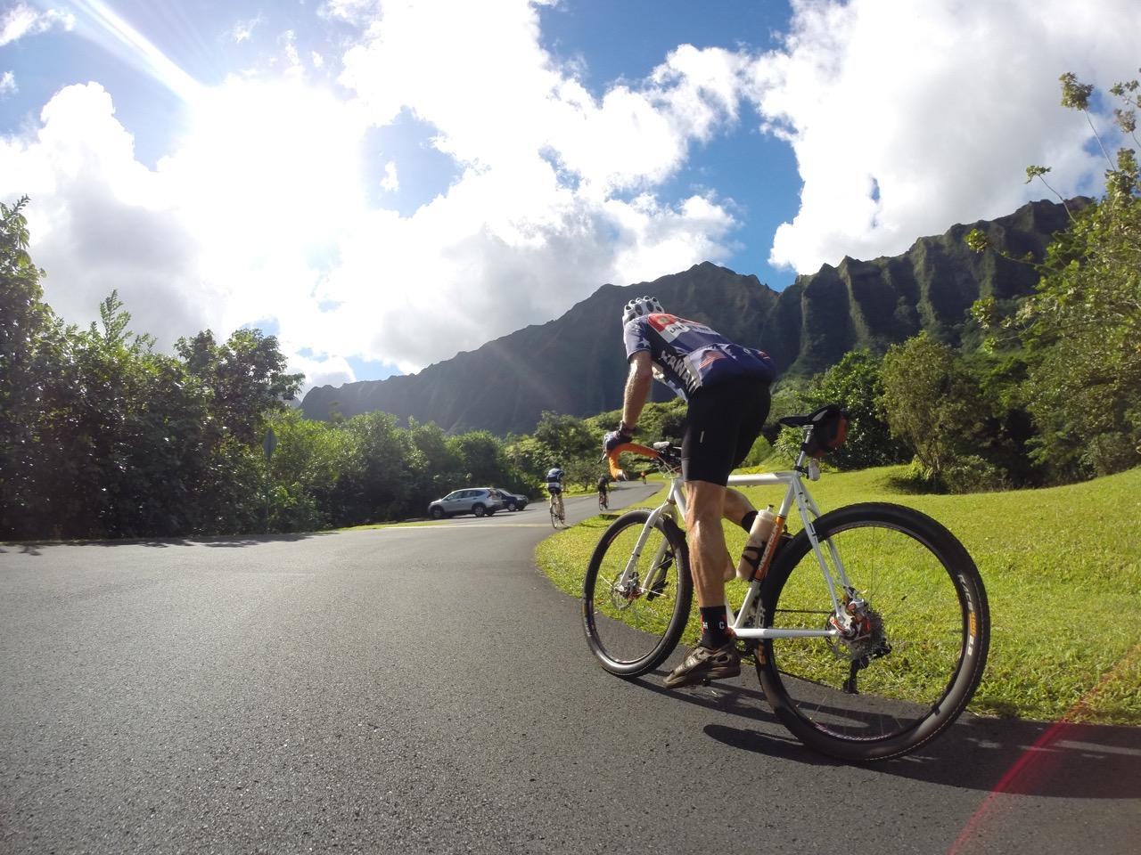John Girmsey showing us what a real multi-terrain bike looks like.