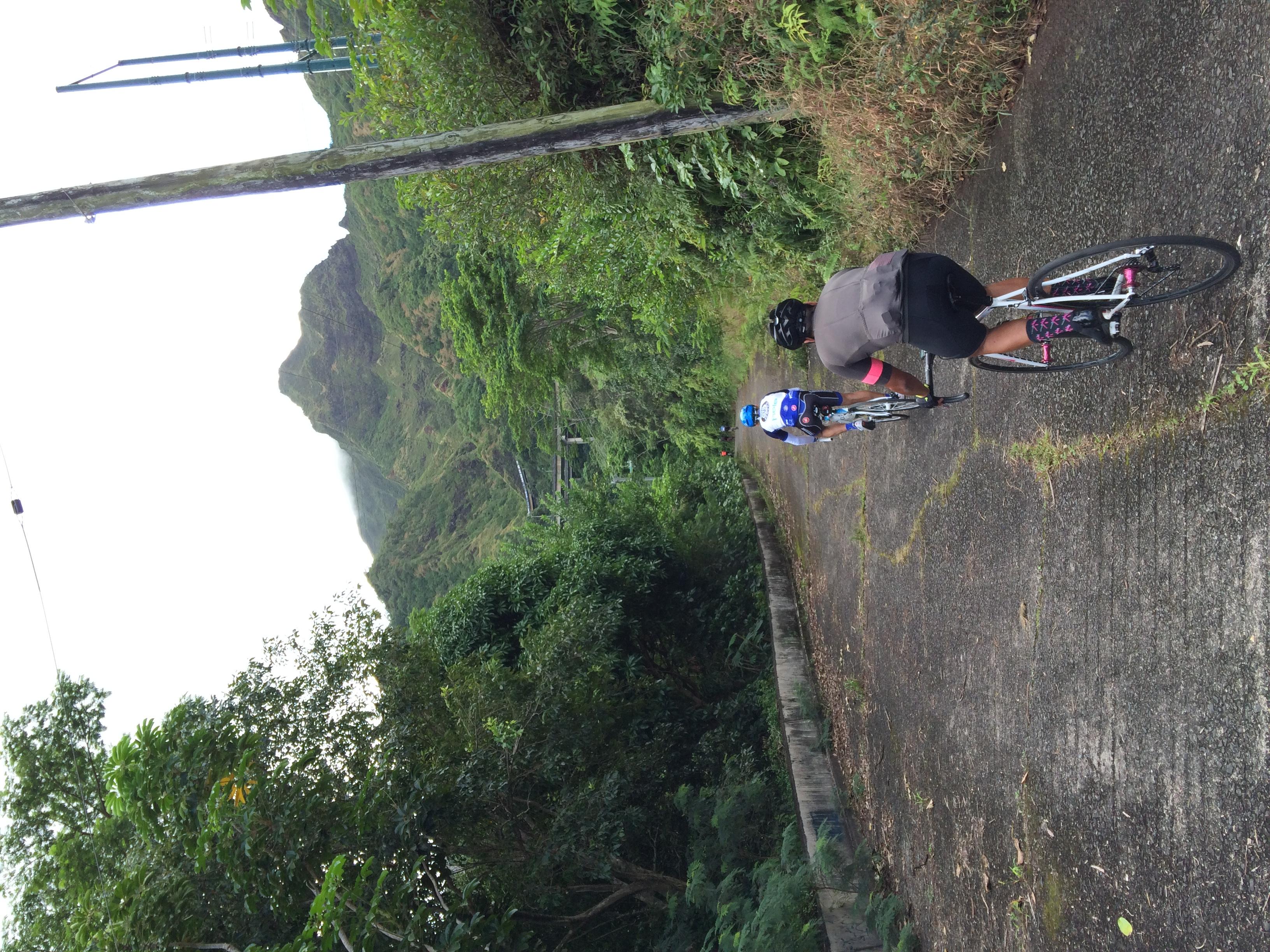 Kawika Samson taking in the view