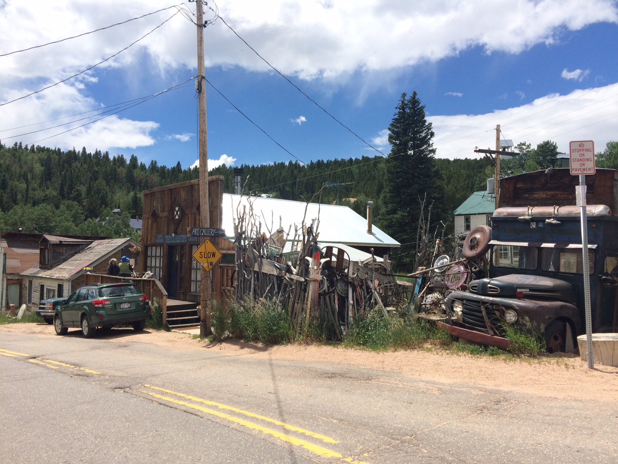 Rode through the weirdest town in Boulder County,Ward.