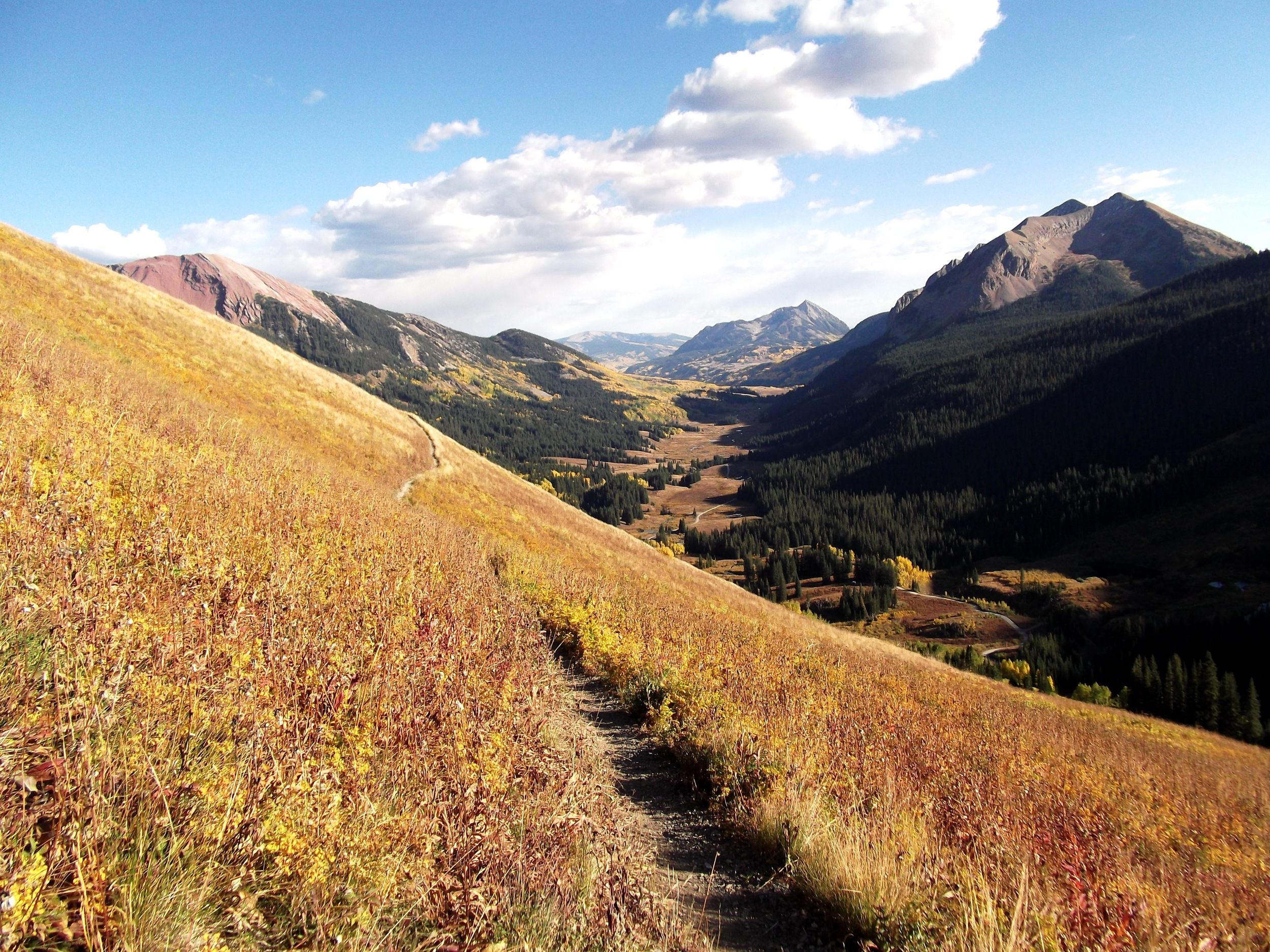 Looking down 401 trail in Crested Butte, CO