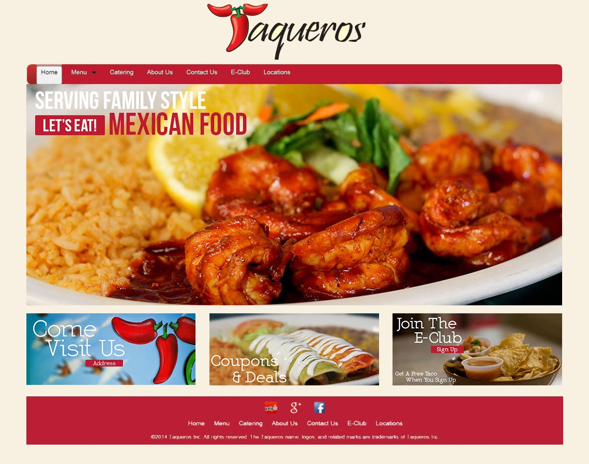 Jason Khoo - Taqueros Mexican Restaurant Website