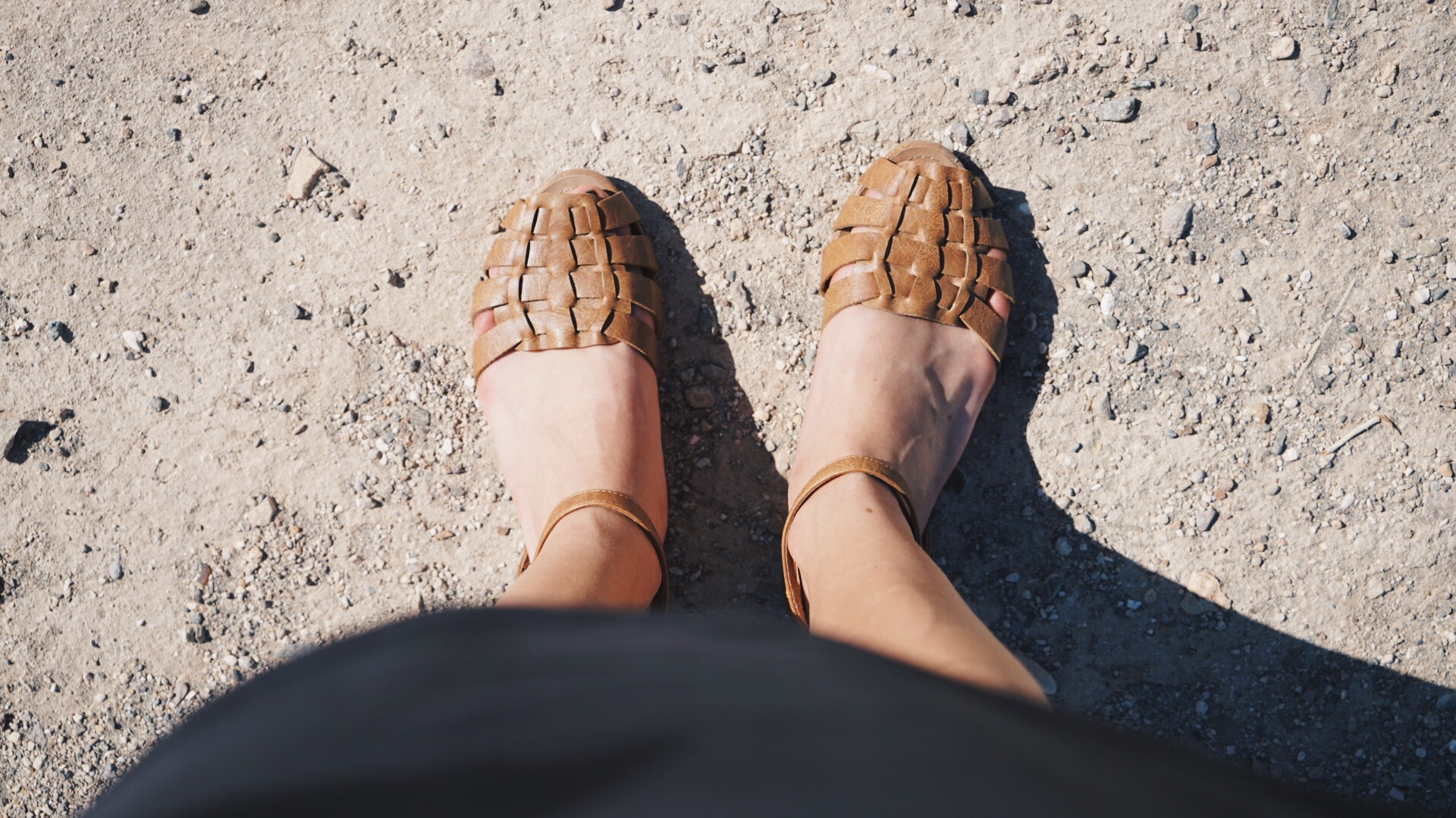 My feet before they melted into the sand...