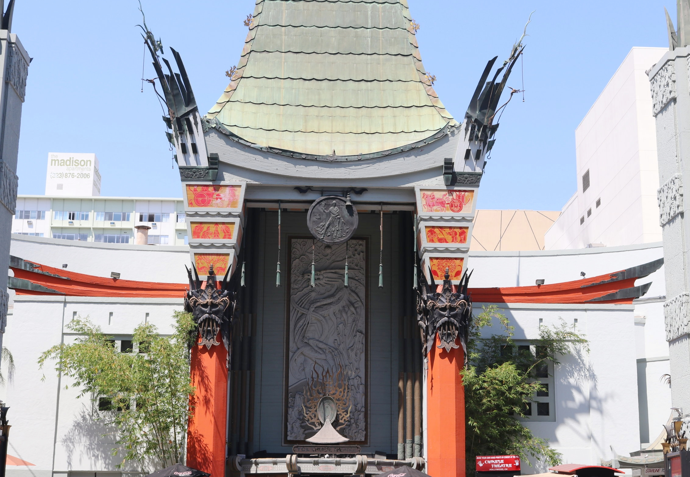 The infamous Chinese Theatre on Hollywood Blvd.