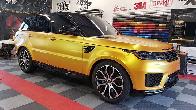 Absolutely perfect color this #RangeRover #rangeroversport @adgraphics_na Satin Energetic Yellow went down on the body and @kpmfusa Gloss Black on the roof and lastly @xpel PPF on the A-B-C-D pillars. Shot out to our good friend for trusting us with this beauty.  #xpelhawaii #paintisdead #elitewrappers #metrorestyling #kingsofvinyl #wrappermapper #wrapfolio #thewrapsociety #wraplocal #vinyl #3m #hexis #averydennison #oracal #kpmf #teckwrap #XPEL #fusion #ceramiccoating #tesla #clearbrahawaii #model3 #clearbrahonolulu #xerowraps #paintprotectionfilmhonolulu #paintprotectionfilmhawaii
